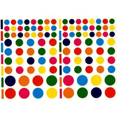 Gommettes rondes multicolore