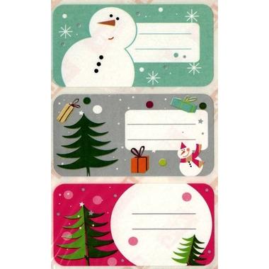 Etiquettes Noel sapins