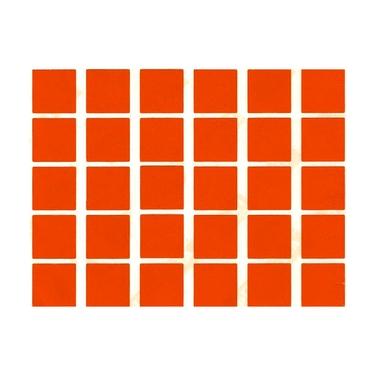 gommettes orange carré