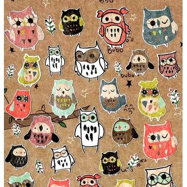 Stickers kawaii chouette detail