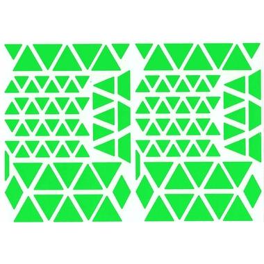 Gommettes triangles vert