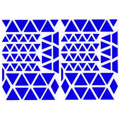 Gommettes triangles bleu