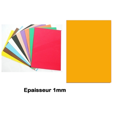 Feuille mousse EVA 1mm jaune orange