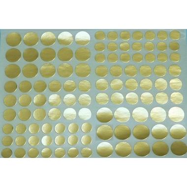 108 gommettes dorées