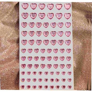 Cristal autocollant coeur rose