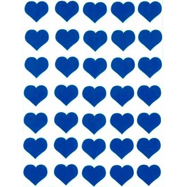 Gommettes coeur bleu