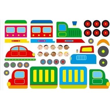 Kit Gommettes Train et Camion