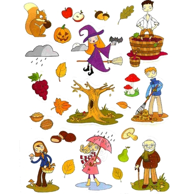 Gommettes thème automne