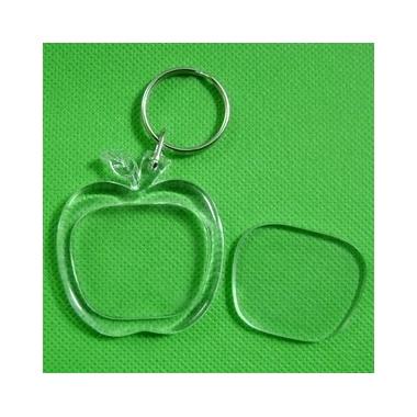 Porte cle plastique à decorer pomme