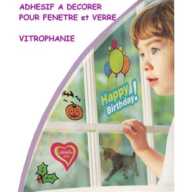Feuille adhesive pour décoration fenêtres et verre