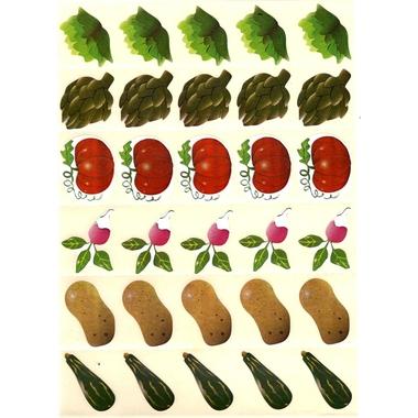 Gommettes légumes du potager