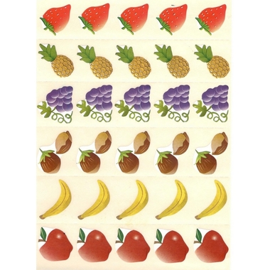Gommettes fruits courants