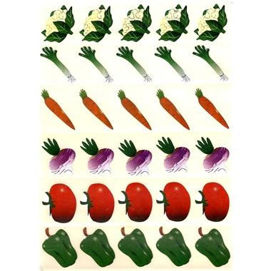 Gommettes légumes courants