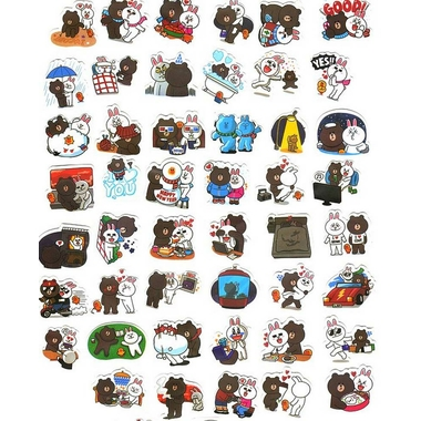 Stickers lapin et ourson kawaii