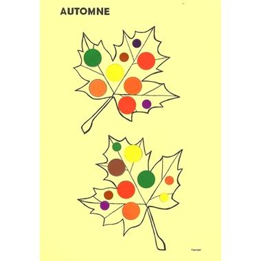kit gommettes feuilles automnes exemple