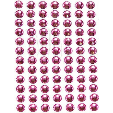 Strass autocollants Roses 6mm