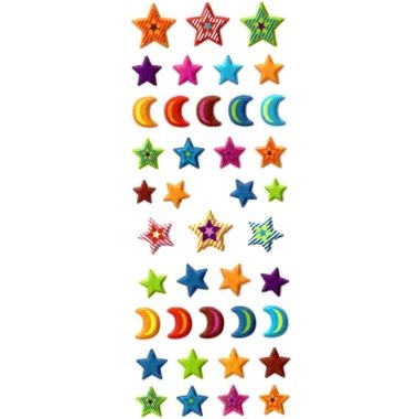 Gommettes Etoile Gommette Lune Paillette X24S