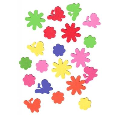 gommettes mousse fleurs papillons