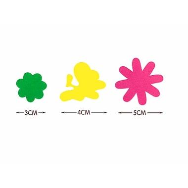 gommette mousse autocollante fleurs detail