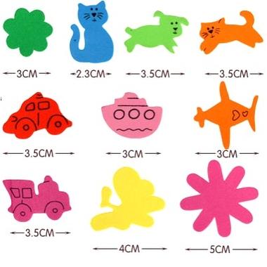 Gommettes Mousse Autocollante formes variées