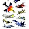 Gommette autocollante Enfant Avions 3D