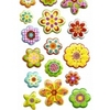 Gommette Scrapbooking Fleurs Paillettes 9x24cm