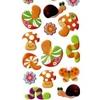 Gommette Loisir Creatif Champignons et Escargots 9x22cm 3D
