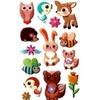 Sticker Loisir Créatif Bébés des Forêts 22x9cm 3D