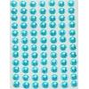 84 Strass Autocollants Bleus 6 mm