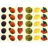 30 gommettes Fruits d'Eté