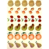30 gommettes Fruits du Verger