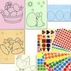 """5 tableaux A4 et 1030 gommettes - Kit Gommettes """"Pâques"""""""