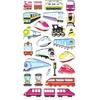 25 gommettes Trains et Trams 3D
