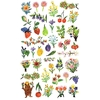 40 stickers Fleurs et Fruits