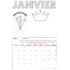 Kit Bricolage Calendrier mensuel Janvier