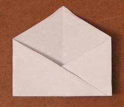 Pliage enveloppe gommette