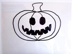 Plastique fou coloriage halloween