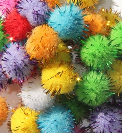 Pompons geants scintillants