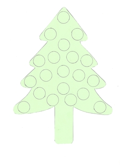 Dessin Sapin de Noël avec ronds