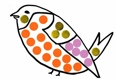 activite gommette oiseau