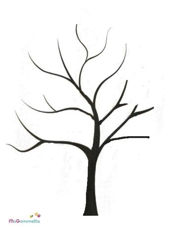 Collage de gommettes arbre imprimer mod les de dessins imprimer pour gommettes magommette - Arbre automne dessin ...