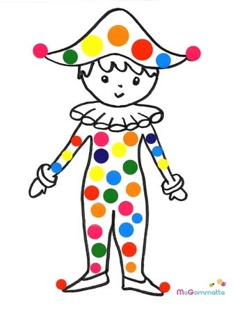 Coloriage Facile Arlequin.Coloriage Gommettes A Imprimer Arlequin Modeles De Dessins