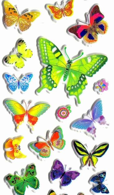 Gommettes autocollantes papillons charmants - Dessin petit papillon ...