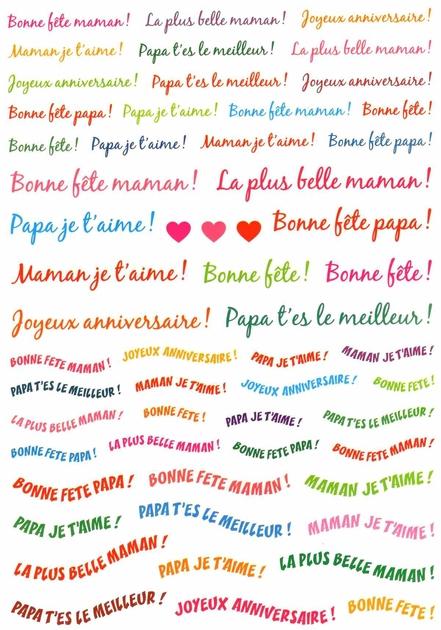 57 Stickers Compliments Pour Fêtes Et Anniversaires