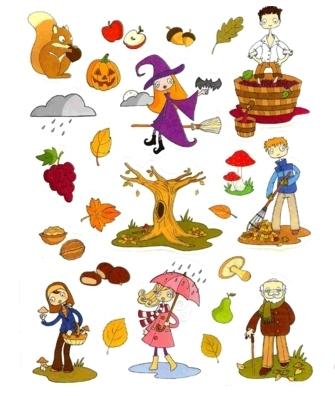 Gommettes automne