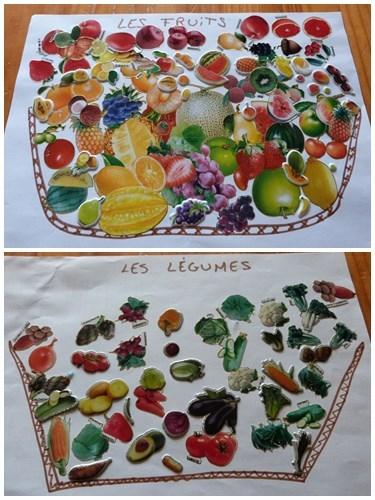 Un petit jeu avec des gommettes fruit ou l gume - Fruit ou legume en i ...