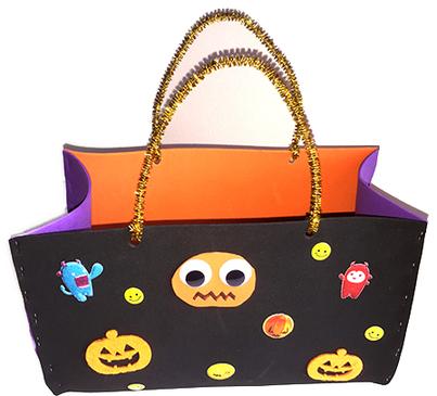 Bricolage facile pour Halloween : un sac à bonbons