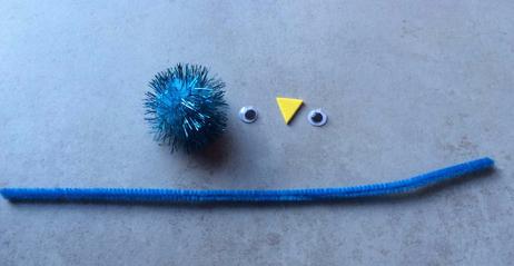 idee activite enfant avec pompon et chenille