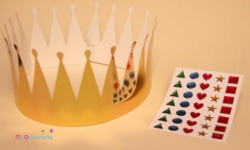 Couronne des rois à decorer avec gommettes