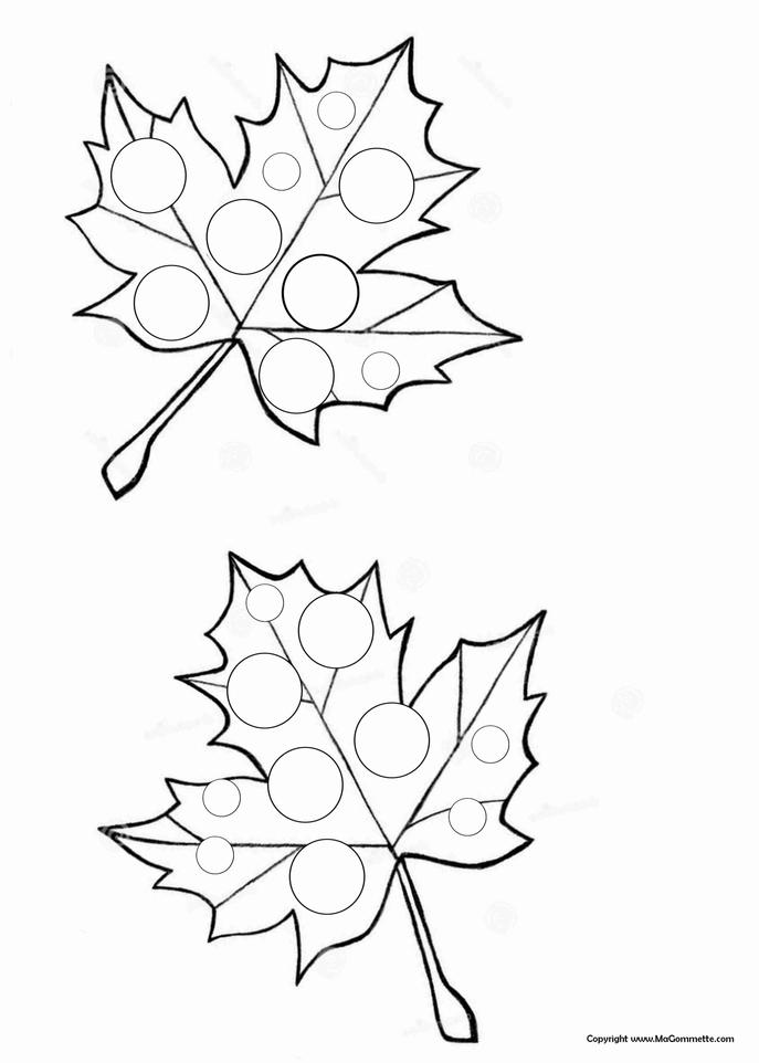 feuille de vigne automne collage gommette